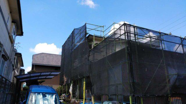 【宮崎・鹿児島地域】窯業系サイディングとスレート屋根を塗装していきます水養生_1_予備1