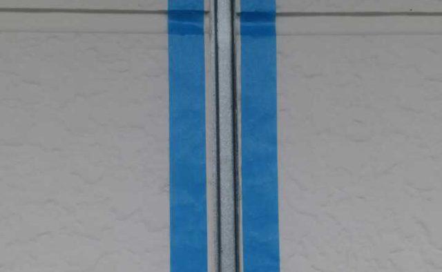 【宮崎県宮崎市】大字芳士にあるバルコニーがアスファルト防水の住宅でシーリングをしますマスキング・プライマー処理_1_確定