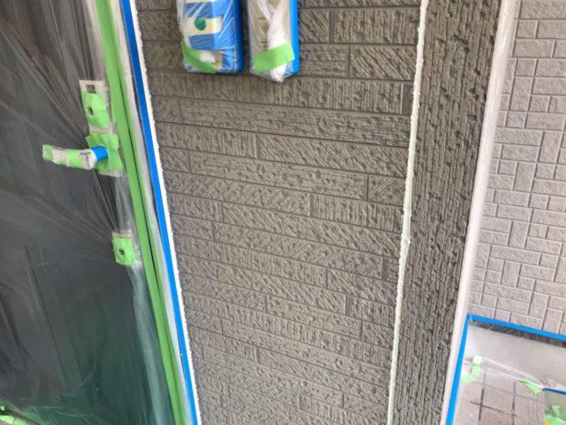 【宮崎県宮崎市】花ヶ島町立野にある45坪の住宅で外壁塗装のための足場を設置しますシーリング完了_1_確定