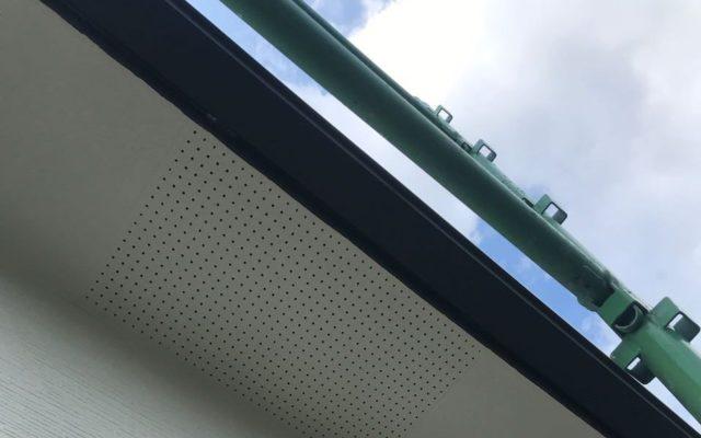 【宮崎県宮崎市】東大宮にある陶器瓦屋根の住宅でシーリング補修をします軒天上塗り_1_予備2