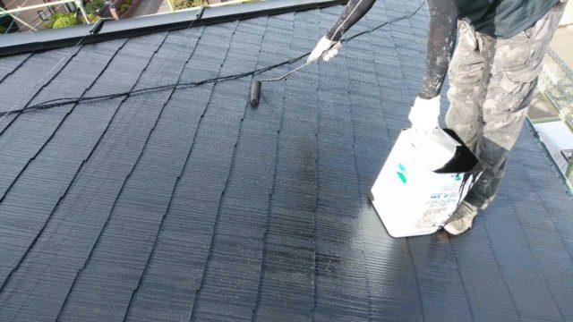 【宮崎・鹿児島地域】窯業系サイディングとスレート屋根を塗装していきます屋根上塗り_1_予備1