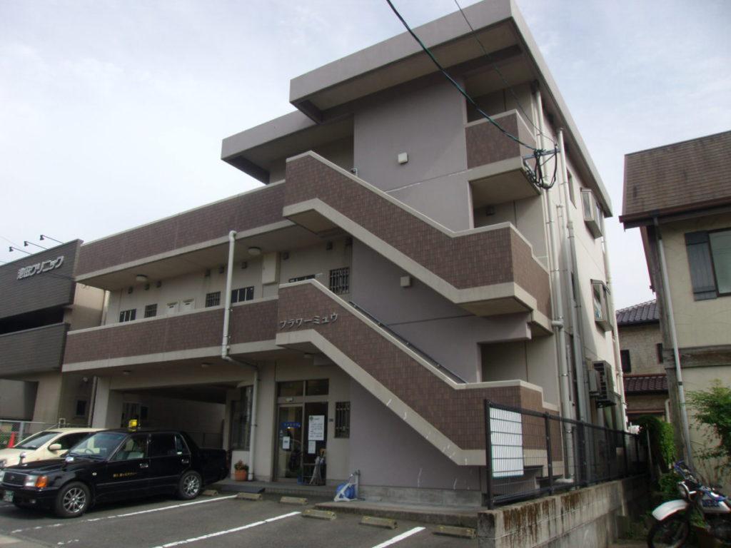 鹿児島市吉野の塗装前アパート