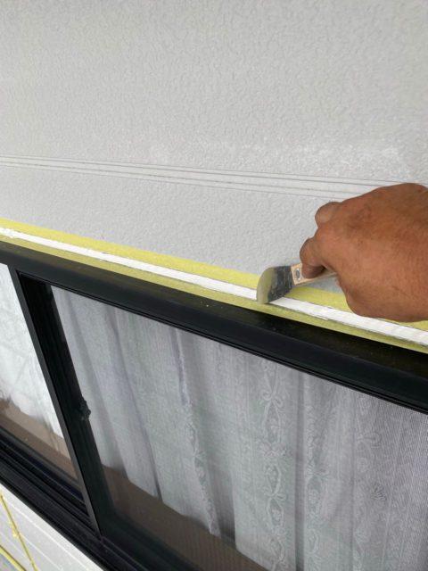 外壁塗装のコーキング補修窓回り