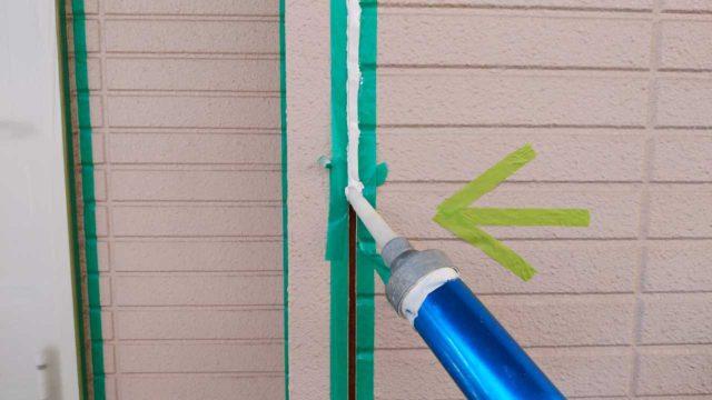 【鹿児島県鹿児島市】伊敷台にある住宅でサイディング外壁とスレート屋根を塗装していきますシール充填_1_確定