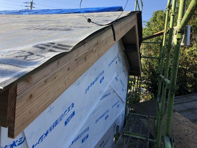 屋根の防水シートの様子