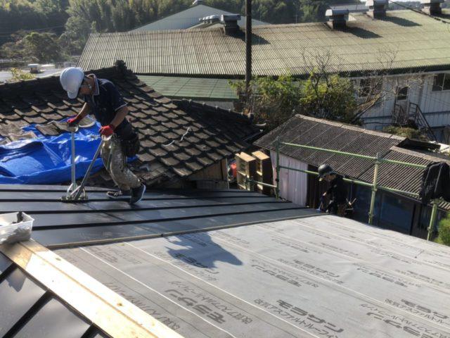 ガルバリウム屋根の様子