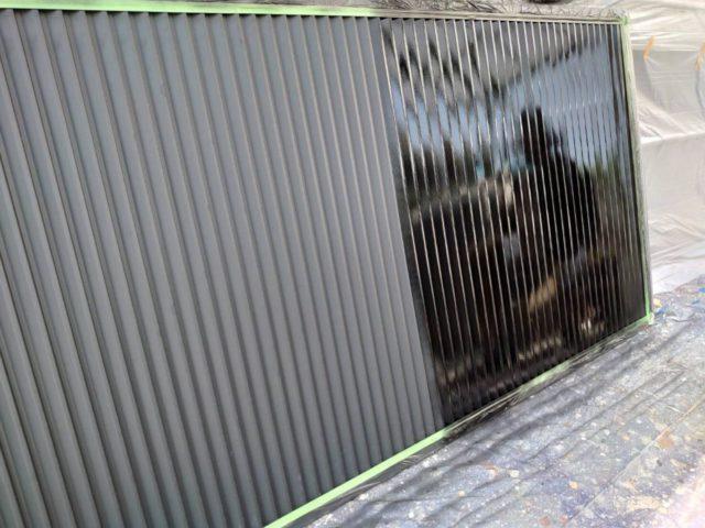 【宮崎県宮崎市】清武町にある33坪の住宅で窯業系サイディングを弾性スーパーセラタイトFで塗装していきます!雨戸上塗り_1_確定