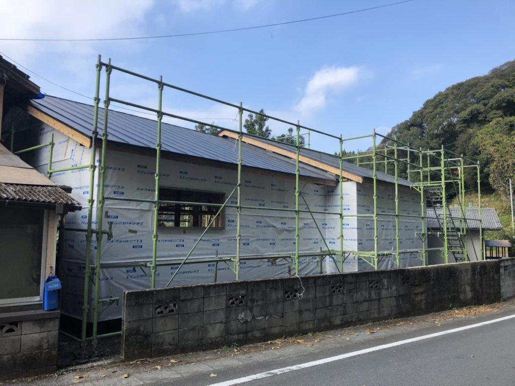 大規模改修あ外壁施工