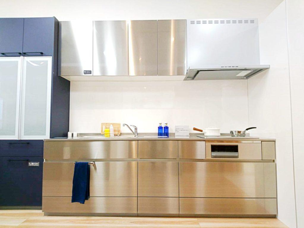 ステンレス製のキッチン