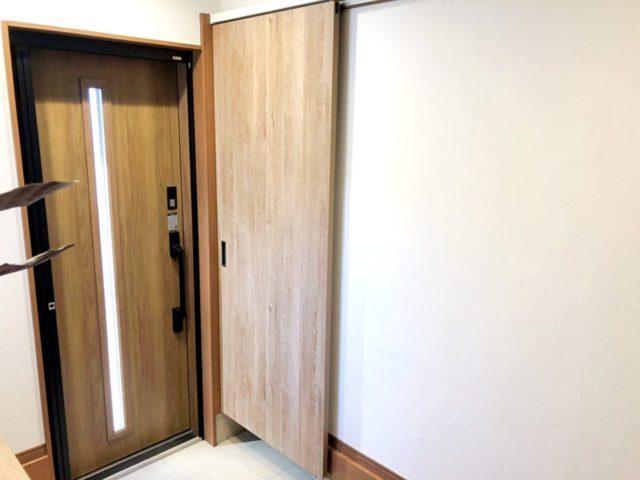玄関部分の増築の完成