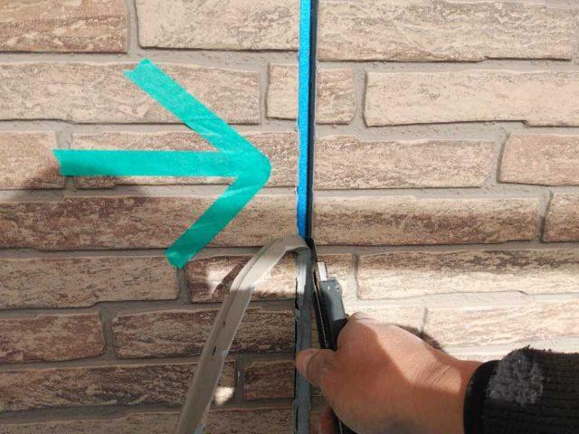 外壁塗装前のコーキング補修