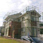 鹿児島市の塗装工事着工の様子