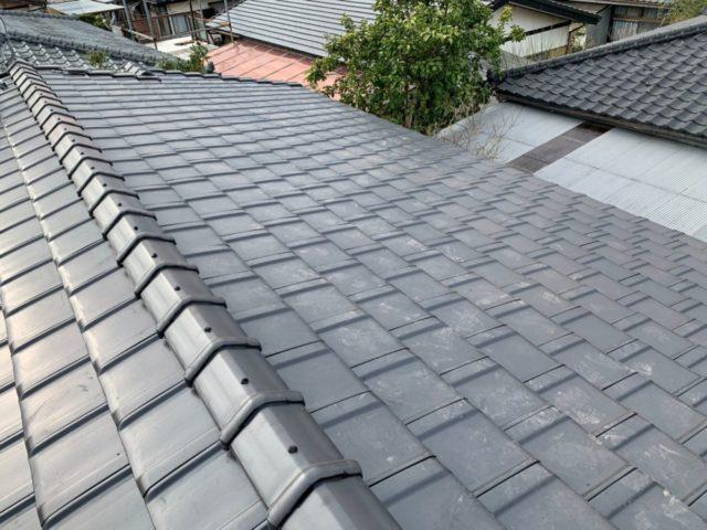 屋根の葺き替え完成の様子