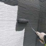 外壁塗装2回目塗料塗布