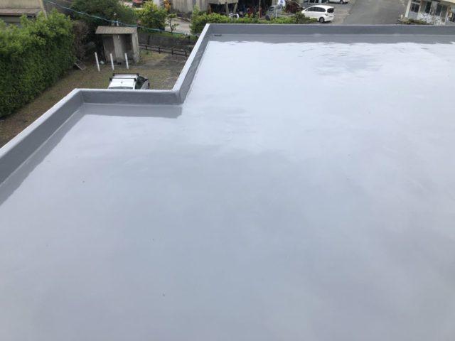 屋上防水 施工完了の様子